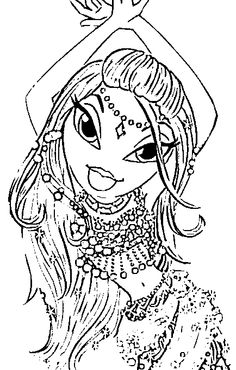 Bratz Color Page Cartoon Characters Coloring Pages For Kids Thousands Of Free Printable