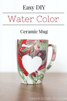How To Make A DIY Watercolor Mug With Nail Polish from howipinchapenny.com