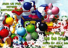 Yoshi Birthday Invitations | Yoshi Personalized Party Invitation - Printable