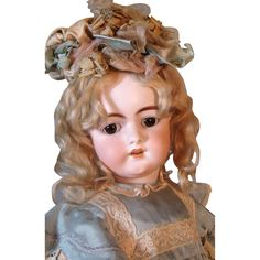 Gorgeous Early Simon Halbig DEP German Bisque Head Doll from victoriasdollhouse on Ruby Lane