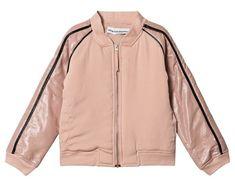 Kladdkaka med extra allt Pink Bomber Jacket, Adidas Jacket, Rain Jacket, Sports Brands, Powder Pink, Leather Material, White Tees, Girls Shopping, Baby Shop