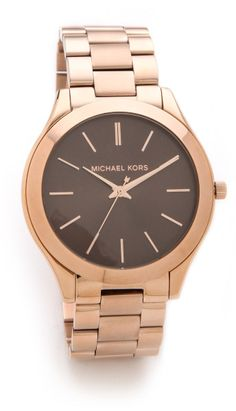 Michael Kors Slim Runway Watch in Pink (Rose Gold)