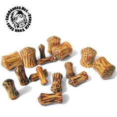 """Spike. Double flares. #stretchedear #gauges 8G,6G,2G,0G,00G,1/2"""" Wood Plugs, Ear Gauges, Wood Turning, Coconut, Woodturning, Woodcarving"""