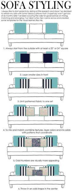 Dit is een handig stappenplan voor het uitzoeken van kussens voor je bank. Het mag natuurlijk ook helemaal anders, probeer het eens uit en ga ontdekken wat er bij je past.