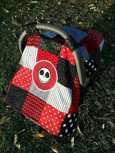 Nightmare before Christmas baby car seat cover Goth Baby, Christmas Baby Shower, Baby Halloween, Halloween 2016, Everything Baby, Baby Time, Thing 1, Jack Skellington, Baby Accessories