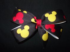 2 Mickey Mouse Disney Hair Bows for only $5! Great for Disney summer vacations!