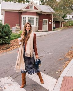 Julia Engel shares her daily look on Gal Meets Glam. Julia is wearing a Veda jacket, J.Crew turtleneck, Frame skirt, and more. Click here to shop the look!