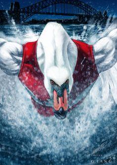'The Soaring Swan of Sydney' Print By Grange Wallis