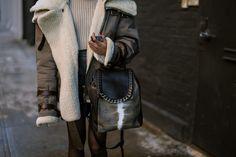 NYFW Street Style, Day One: Amazing Coats, Big Jewels - NYFW Fall 2014 - @Racked