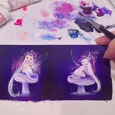 Floral fairies ✨ #gouache #minipainting