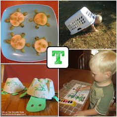 T is for Turtle~ love the laundry basket turtle shell :)