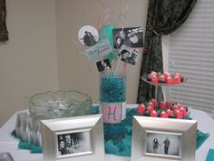 Awesome wedding shower decorations that my sisters & niece made.