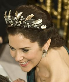 Crown Princess Mary of Denmark wearing the midnight tiara.