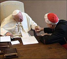 St. John Paul II the Cardinal Joseph Ratzinger, the future Pope Benedict XVI