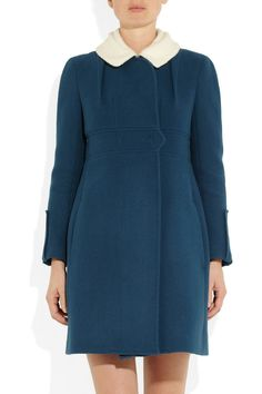 Carven Fleece-collared wool and cashmere-blend coat NET-A-PORTER.COM