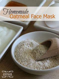 Homemade Oatmeal Face Mask | http://www.passionforsavings.com/2015/04/homemade-oatmeal-face-mask/