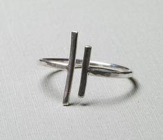 {Unequal Ring} Gunnard Jewelry - minimalist geometric