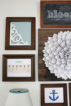 wooden frame gallery wall ready for spring summer, home decor, living room ideas, seasonal holiday decor, wall decor