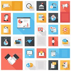 Business Icons — JPG Image #target #management • Available here → https://graphicriver.net/item/business-icons/9255693?ref=pxcr