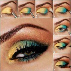 Yellow and Green Eyeshadow