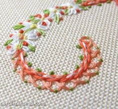 Floral Monograms projects e-book in the making by Mary Corbet of Needle 'n Thread Blog