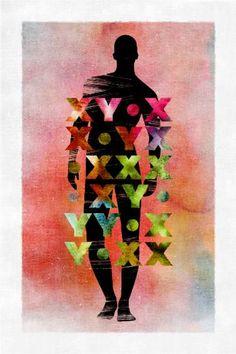 "Saatchi Art Artist Gender Pop; Printmaking, ""Gender Fluency #37"" #art"
