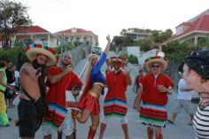 Mexicans and super women is on the streets in St Barth's Carnival - Photo (c) pati de saint barth #mardigrasparty #mardigrascostume #carnivalcostume