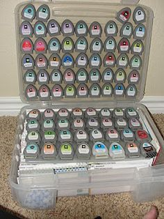 Cricut cartridge storage - wow, we may end up with this if we keep going!