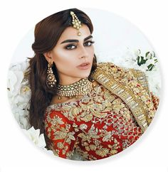 The Magic of A Red Bridal is in its Vibrant, Charm and the Special Value it Holds For A South Asian Bride. Bridal Makup, Bridal Beauty, South Asian Bride, South Asian Wedding, Indian Wedding Jewelry, Bridal Jewelry, Pakistani Jewelry, Pakistani Bridal Dresses, Pakistani Couture