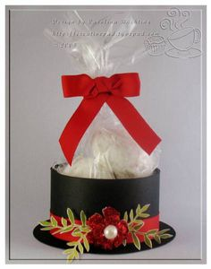 Snowman Hat Treat Holder by craftycaro - Cards and Paper Crafts at Splitcoaststampers