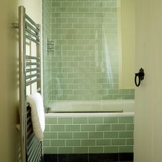 lovely retro metro 1930's inspired tiles from Fired Earth, in our bathroom at two chapel lane.