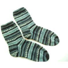 Hand knit grey mens striped socks Swollen feet Diabetic socks Wool... ($37) ❤ liked on Polyvore featuring men's fashion, men's clothing, men's socks, mens woolen socks, mens grey socks, mens christmas socks, mens wool socks and mens gray socks