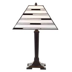 Aztec Lighting Bronze Tiffany Style 1-light Table Lamp