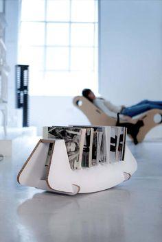 Portariviste DONDO by Gloook #ecodesign #cardboard #magazinerack #furniture