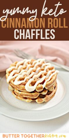 These Cinnamon Roll Chaffles from Butter Together Kitchen are the perfect breakfast, snack, or dessert! Warm cinnamon mixed with a sweet keto friendly frosting makes the ultimate combination of sweetness and warmth! These keto cinnamon roll chaffles will quickly become your new go-to! #keto #ketorecipes #cinnamonrolls #chaffles #lowcarb #lowcarbrecipes Breakfast Snacks, Low Carb Breakfast, Perfect Breakfast, Low Carb Keto, Low Carb Recipes, Diet Recipes, Delicious Desserts, Dessert Recipes, Other Recipes