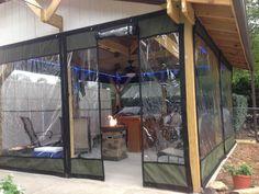 Outdoor Curtains For Patio, Gazebo Curtains, Diy Gazebo, Outdoor Blinds, Mosquito Curtains, Backyard Pavilion, Backyard Patio, Porch Vinyl, Closed In Porch