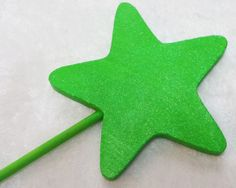 Lime Green Wooden Wand Party Favor (Tinkerbelle, Tiana, Fairy, Mermaid, Princess) by TeatotsPartyPlanning on Etsy