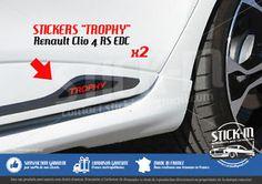 Renault Clio 4 RS EDC Trophy 220 Stickers Autocollants Portes Doors Decals Rear | eBay