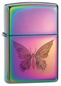 Bright rainbow colored zippo with a butterfly on the front. $24.99 #butterfly #zippo #lighter http://mattslighters.com/zippo-lighters-wings-of-destiny/