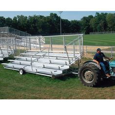 10 Row (140 Seat) 21' Preferred Portable Bleacher System: PLEASE NOTE: THIS ITEM CANNOT SHIP VIA 3-DAY DELIVERY.Designed to… #onlinesports
