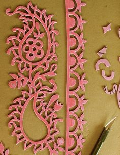 DIY craft foam stamps [My big fat bag of art journal tricks. by Smallest Forest]. You cut the stamp out or craft foam and then glue to plywood for the base. Diy Stamps, Foam Stamps, Handmade Stamps, Foam Crafts, Arts And Crafts, Paper Crafts, Diy Crafts, Craft Foam, Tampons En Mousse
