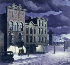 Charles Burchfield (1893-1967)-Winter Twilight 1930