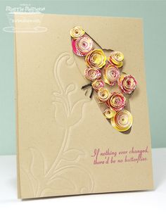 unique use for rolled flowers - card by Sherrie Siemens