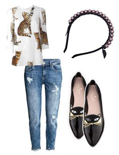 """Midweek meaow 😻"" by biancamakrisjewelry on Polyvore featuring H&M, Kate Spade and Dolce&Gabbana"