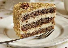 arta culinara: Tort de nucă. Cake Receipe, Romanian Desserts, Romania Food, French Desserts, Sweet Bread, Cakes And More, Vanilla Cake, Food And Drink, Sweets