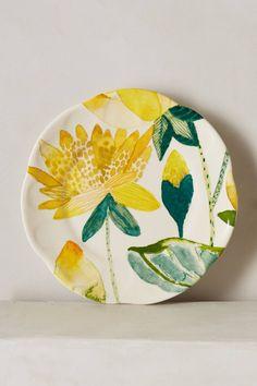 Garden Buzz Dessert Plate - anthropologie