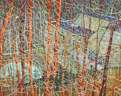 Питер Дойг (Peter Doig) The Architect's Home in the Ravine, 1991 Peter Doig, Abstract Landscape, Landscape Paintings, Saatchi Gallery, Foto Art, New Energy, Art Moderne, Conceptual Art, Sculptures