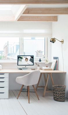 Awesome and Subtle Home Office Scandinavian Design Ideas – Home Design – Home Office Design İdeas Office Interior Design, Home Office Decor, Office Interiors, Home Decor, Office Ideas, Kids Office, Office Themes, Office Designs, School Office