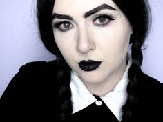Babyredvamp Makeup  Halloween Series - Wednesday Addams Inspired Makeu...  Idee Per Halloween 6dff814e288b