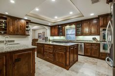 Spacious and chic, with granite counters and stainless steel appliances